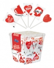 Red heart lollipops 8 g