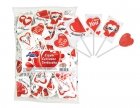 Red heart lollipops 8g